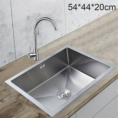 £59.99 • Buy Stainless Steel Square Kitchen Undermount Sink Catering Single Bowl Drainer  UK