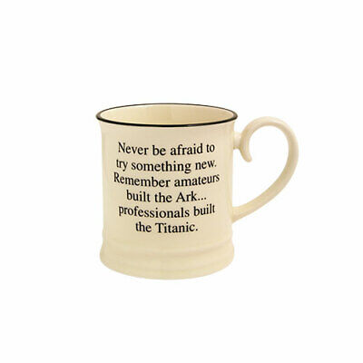 £8.79 • Buy Quips & Quotes - Never Be Afraid To Try - Tankard Mug By Fairmont & Main Ltd
