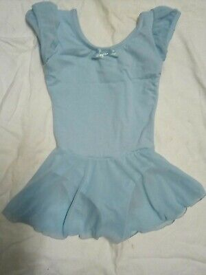 Ballet Dress Costume Tutu Light Blue Size 50cm Chest With Storage Bag • 5.99£