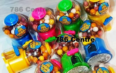 3 X 10cm Sweet Mini Chewing Gumball Dispenser Dispensing Machine - 105g Gumballs • 12.95£
