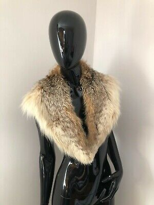 £70 • Buy Real Natural Authentic Genuine Fox Fur Collar Stole Wrap Scarf Scarves