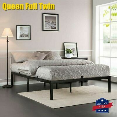 $ CDN124.85 • Buy Queen Size Platform Bed Frame Mattress 18 Inch Metal Steel Heavy Duty Mattress