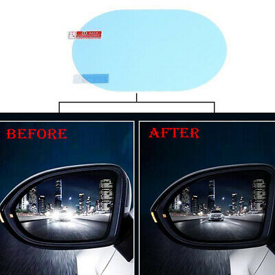 2Pcs Oval Car Anti Fog Rainproof Rearview Mirror Car Protective Film Accessories • 4.59£