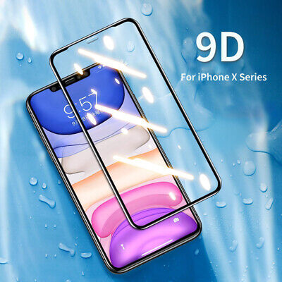 Genuine 9D Tempered Glass Screen Film Protector For Apple IPhone XS Max,XR,XS,X • 3.59£