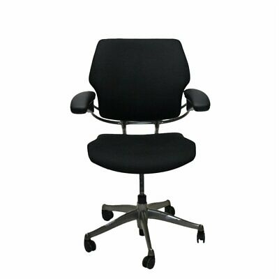Humanscale Freedom Task Chair Black Fabric Arms Computer Home Office  • 145£