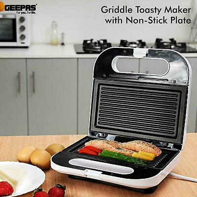 Electric Healthy Panini Press Grill Non Stick Powerful Toaster Sandwich Maker UK • 23.11£