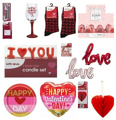VALENTINES DAY ROMANTIC GIFTS His & Her Love Heart Cute Valentine Gifts • 5£