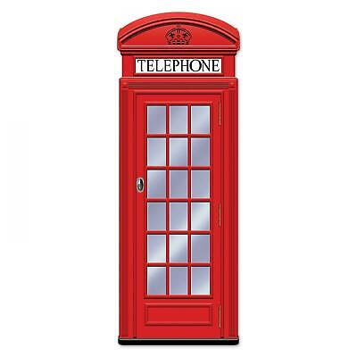 £11.99 • Buy Jointed Red Phone Box Card Cutout Great Britain / London Theme Party Decoration