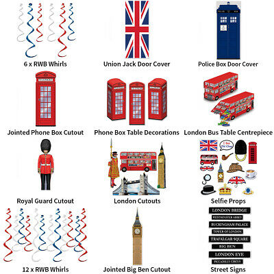£9.49 • Buy Great British & London Theme Decorations - Partyware Complete Selection