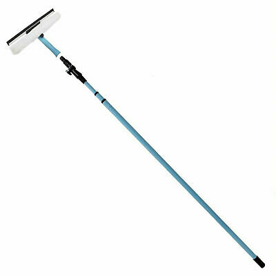 3.5m Telescopic Window Cleaning Kit Conservatory Glass Cleaner Squeegee Pole New • 16.99£