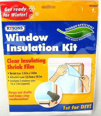 £3.99 • Buy 🔥window Insulation Fit Double Glazing Shrink Film Draught Excluder Condensation
