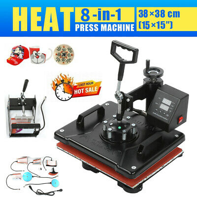 AU1297.56 • Buy 8 In 1 Heat Press Machine Swing Away Digital Sublimation T-Shirt /Mug/Plate Hat