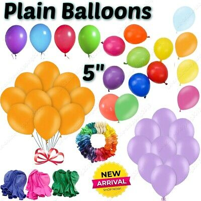 AU5 • Buy 5 Inch Small Round Best Latex Balloons 100 Quality Standard Ballon Colour Party
