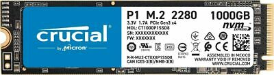 Crucial 1TB P1 Internal SSD Solid State Drive CT1000P1SSD8 M.2 NVMe PCIe Gen3 • 96.88£
