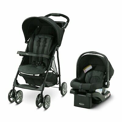 Baby Stroller Travel System With Infant Car Seat Child Tray Cup Holder - Black • 144.70£