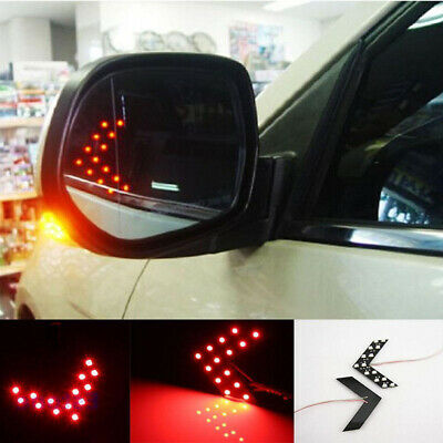 2PCS Car Side Rear View Mirror 14-SMD LED Lamp Turn Signal Light Kit Accessories • 4.52£