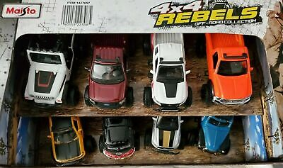 $ CDN42.34 • Buy Maisto 4x4 Rebels Off-road Collection Pull Back!! (8 Pack) Die Cast Cars 1:43