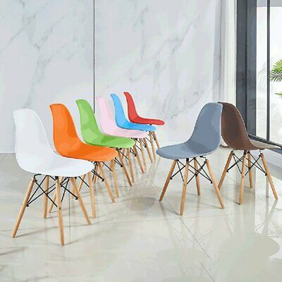 AU92.90 • Buy 2/4x Retro Replica Dining Chairs Chair Kitchen Cafe Wood Leg Wooden 4 Color