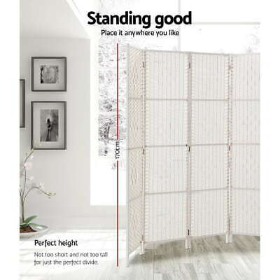 AU100.80 • Buy Artiss 3/4/6/8 Panel Room Divider Screen Privacy Rattan Timber Fold Woven Stand