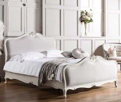 £1097.80 • Buy French Chic Vanilla Upholstered White Wooden Bed