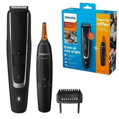 AU106.47 • Buy Philips Series 5000 Beard & Stubble Clipper Shaver With 1000 Series Nose Trimmer