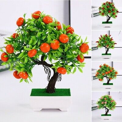 Artificial Potted Plant Fake Fruit Silk Flower Parties Offices Families Home Dec • 7.73£