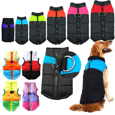 Windproof Pet Puppy Dog Zip Up Vest Puffer Jacket Dogs Clothes Coat Warm Outdoor • 7.59£