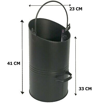NEW Heavy Duty   Metal Coal Scuttle / Bucket / Hod Galvanised Fireplace • 15.99£