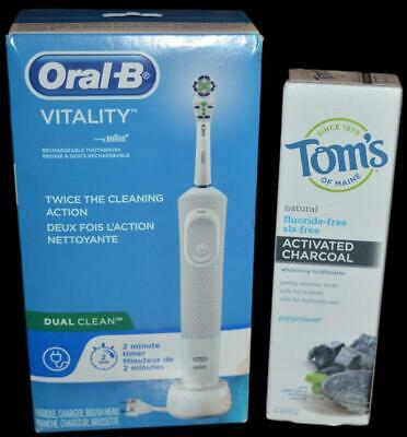 AU59.20 • Buy Oral-b Vitality Dual Clean Electric Rechargeable Toothbrush +charcoal Toothpaste