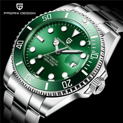 £85.99 • Buy PAGANI DESIGN AUTOMATIC PD1639 Green DIVERS WATCH SEIKO NH35A, SUBMARINER HOMAGE