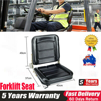 AU67.99 • Buy Adjustable Forklift Seat Chair Leather Bobcat Tractor Excavator Machinery AU