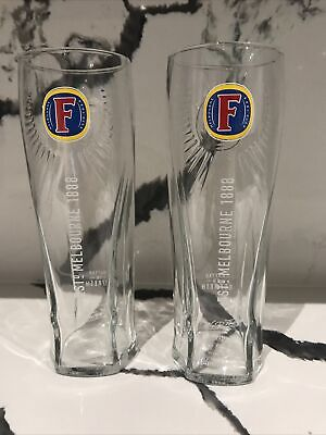 2 X Fosters Lager Pint Glasses  Official Brand New Toughened Nucleated ME19 • 7.99£