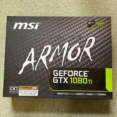 $ CDN1223.17 • Buy MSI GeForce GTX 1080 Ti Armor 11G OC Graphics Board GDDR5X