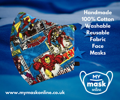 £3.99 • Buy Marvel Hulk, Iron Man, Thor Cotton Face Masks In Child, Teen And Adult Sizes
