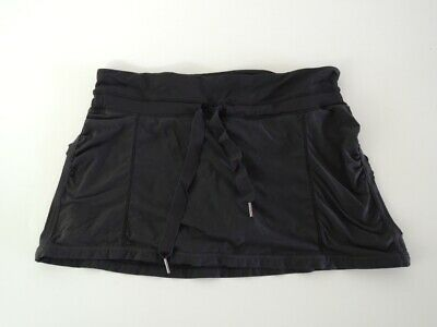 $ CDN63.30 • Buy Lululemon RUN: ENERGY SKIRT With Shorts Black Drawstring Ruched Size 8