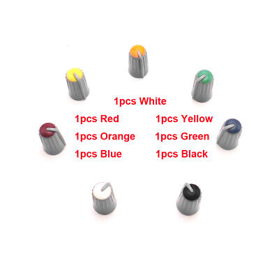 $6.99 • Buy 7PCS Replacement Colorful Rotary Control Knob Cap For MACKIE CFX16 6mm D Shaft