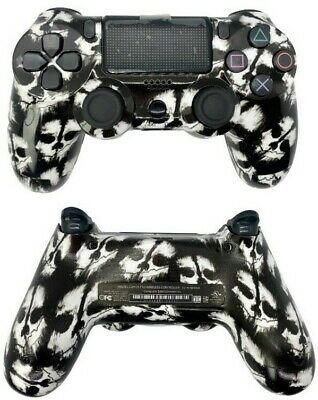 AU56.49 • Buy PS4 Controller With Custom White Skull Design Shell W/ Glossy Finish New In Box