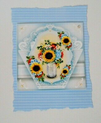 £1.25 • Buy Pk 2 Sunflower Bouquet Embellishment Toppers For Cards And Crafts