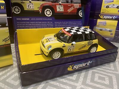 SCALEXTRIC SPORT MINI COOPER JOHN COOPER CHALLENGE CAR No 6 YELLOW LTD EDITION • 39.95£
