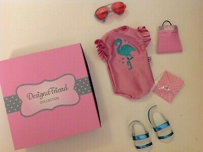 £14.95 • Buy Design A Friend Flamingo Beach Outfit For Chad Valley Designafriend 18  Doll New