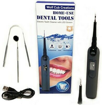 £13.99 • Buy Electric Sonic Dental Scaler Tartar Calculus Plaque Remover Teeth Stains Cleaner