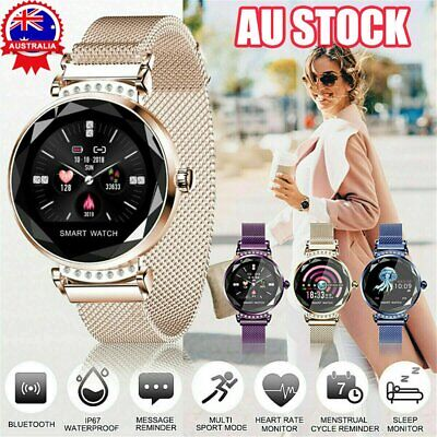 AU55.83 • Buy Waterproof Fitness Smart Watch Women Lady Heart Rate For IOS Android ZV