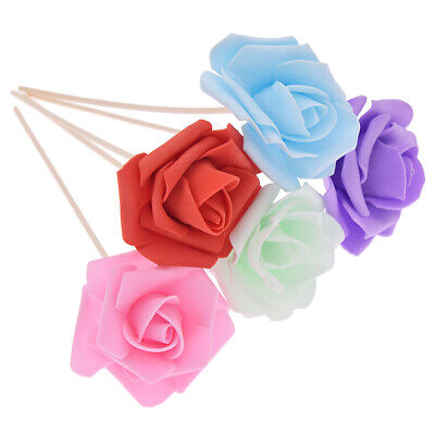 AU2.39 • Buy 5Pcs Rose Flower Rattan Reed Diffuser Refill Sticks Aroma Replacement Home Decor