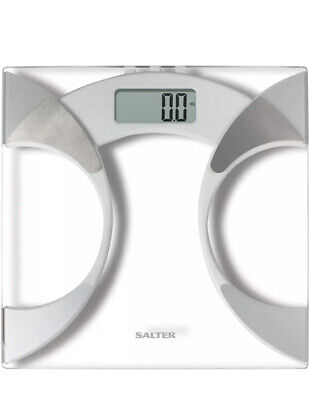 Salter BMI Analyser Bathroom Scales Toughened Glass Digital Body Weighing Scale • 19.99£