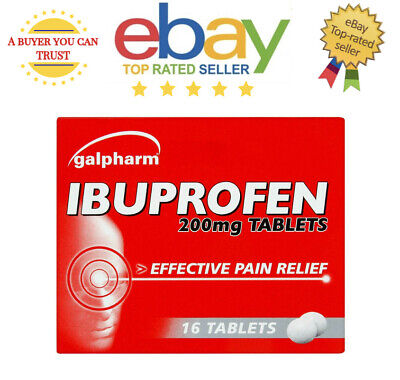 16 Galpharm Ibuprofen 200mg Tablets - Pain Relief - Migraine - Fast Dispatch • 2.69£