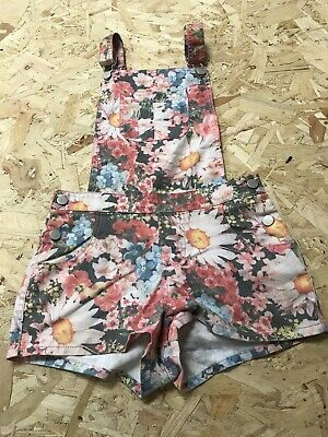 Girls Dungarees Shorts Age 12 To 13 Years Miss E-vie Floral Denim B1275 • 7.99£