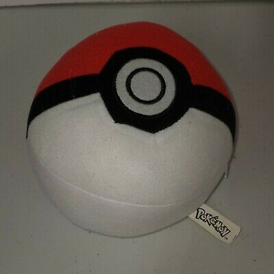 Pokemon Pokeball Plush - TOY FACTORY 2017  Stuffed Ball. EUC • 5.03£