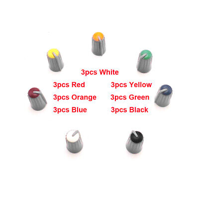 $13.99 • Buy 21PCS Replacement Colorful Rotary Control Knob Cap For MACKIE CFX16 6mm D Shaft
