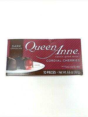 $7.96 • Buy Queen Anne Cordial Cherries • Dark Chocolate-Covered • 10 Pieces Exp 04/2022