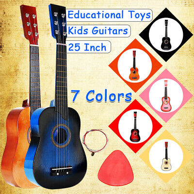 25'' 6 String Acoustic Guitar Beginner Practice Musical Instrument Children Kids • 38.05£